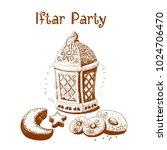 ramadan lantern  vector... | Shutterstock .eps vector #1024706470