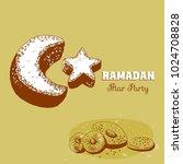ramadan party  vector... | Shutterstock .eps vector #1024708828