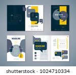 Cover Book Design Set, Speech Bubbles Background vector Template Brochures, flyer, presentations, leaflet, magazine, invitation card, annual report, Questions and Answers, social networks, talk bubble | Shutterstock vector #1024710334