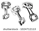 car internal combustion engine... | Shutterstock .eps vector #1024712113