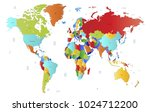world map vector. | Shutterstock .eps vector #1024712200