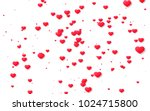 red and pink heart. valentine's ... | Shutterstock . vector #1024715800