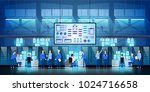 it engineers in big data center ... | Shutterstock .eps vector #1024716658