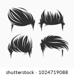set of men hairstyles and... | Shutterstock .eps vector #1024719088