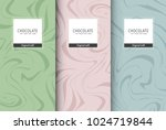 chocolate bar packaging set.... | Shutterstock .eps vector #1024719844