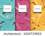 chocolate bar packaging set.... | Shutterstock .eps vector #1024719853