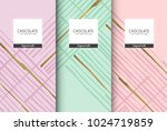 chocolate bar packaging set.... | Shutterstock .eps vector #1024719859