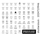 complete set of laundry symbols.... | Shutterstock .eps vector #1024719946