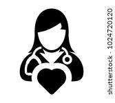 doctor icon vector cardiologist ... | Shutterstock .eps vector #1024720120