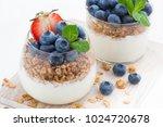 diet dessert with yogurt ... | Shutterstock . vector #1024720678