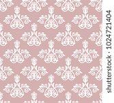 classic seamless white pattern. ... | Shutterstock . vector #1024721404