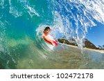 boogie boarder surfing amazing... | Shutterstock . vector #102472178