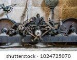 iron  church bell inside the...   Shutterstock . vector #1024725070