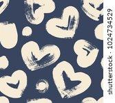 hand drawn dry brush seamless... | Shutterstock .eps vector #1024734529