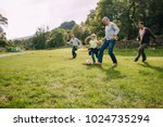 three generation family are...   Shutterstock . vector #1024735294