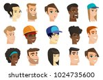 portraits of young men and... | Shutterstock .eps vector #1024735600