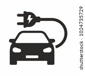 electric car icon | Shutterstock .eps vector #1024735729