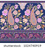 traditional paisley floral... | Shutterstock . vector #1024740919