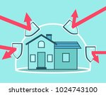 house protected under force... | Shutterstock .eps vector #1024743100