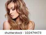 young brunette lady with a... | Shutterstock . vector #102474473