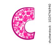 english pink letter c on a... | Shutterstock .eps vector #1024746940