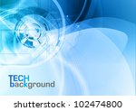 blue abstract tech vector... | Shutterstock .eps vector #102474800