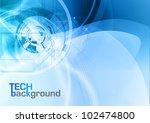 blue abstract tech vector... | Shutterstock .eps vector #102474800