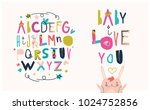 bright colorful abc for kids | Shutterstock .eps vector #1024752856