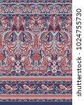 seamless paisley indian motif | Shutterstock . vector #1024755730