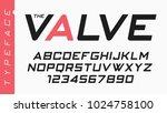 the valve vector futuristic... | Shutterstock .eps vector #1024758100
