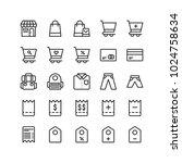 ecommerce line icon set... | Shutterstock .eps vector #1024758634