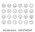 simple set of emoticons ....   Shutterstock .eps vector #1024760269