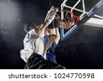 two basketball players in...   Shutterstock . vector #1024770598