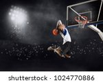 basketball player in action in... | Shutterstock . vector #1024770886
