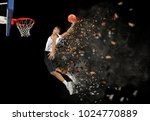 basketball player in action in... | Shutterstock . vector #1024770889