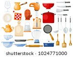 kitchenware vector cookware for ... | Shutterstock .eps vector #1024771000