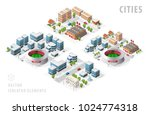 set of isolated isometric... | Shutterstock .eps vector #1024774318