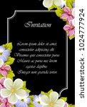 elegant frame of flowers on a... | Shutterstock .eps vector #1024777924