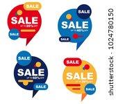 colorful speech bubble sale... | Shutterstock .eps vector #1024780150