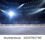 hockey stadium with fans crowd... | Shutterstock . vector #1024781740