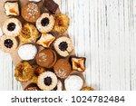 homemade european bakery style...   Shutterstock . vector #1024782484
