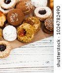 homemade european bakery style...   Shutterstock . vector #1024782490