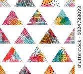 seamless pattern. patchwork.... | Shutterstock .eps vector #1024783093