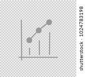 graph vector icon eps 10.... | Shutterstock .eps vector #1024783198