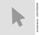 mouse arrow vector icon eps 10. ... | Shutterstock .eps vector #1024783204