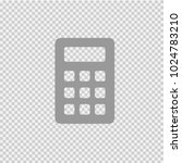 calculator vector icon eps 10.... | Shutterstock .eps vector #1024783210