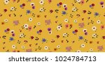 seamless floral pattern in... | Shutterstock .eps vector #1024784713