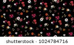 seamless floral pattern in... | Shutterstock .eps vector #1024784716