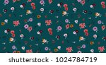 seamless floral pattern in... | Shutterstock .eps vector #1024784719