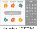 fast food infographic template  ... | Shutterstock .eps vector #1024787968